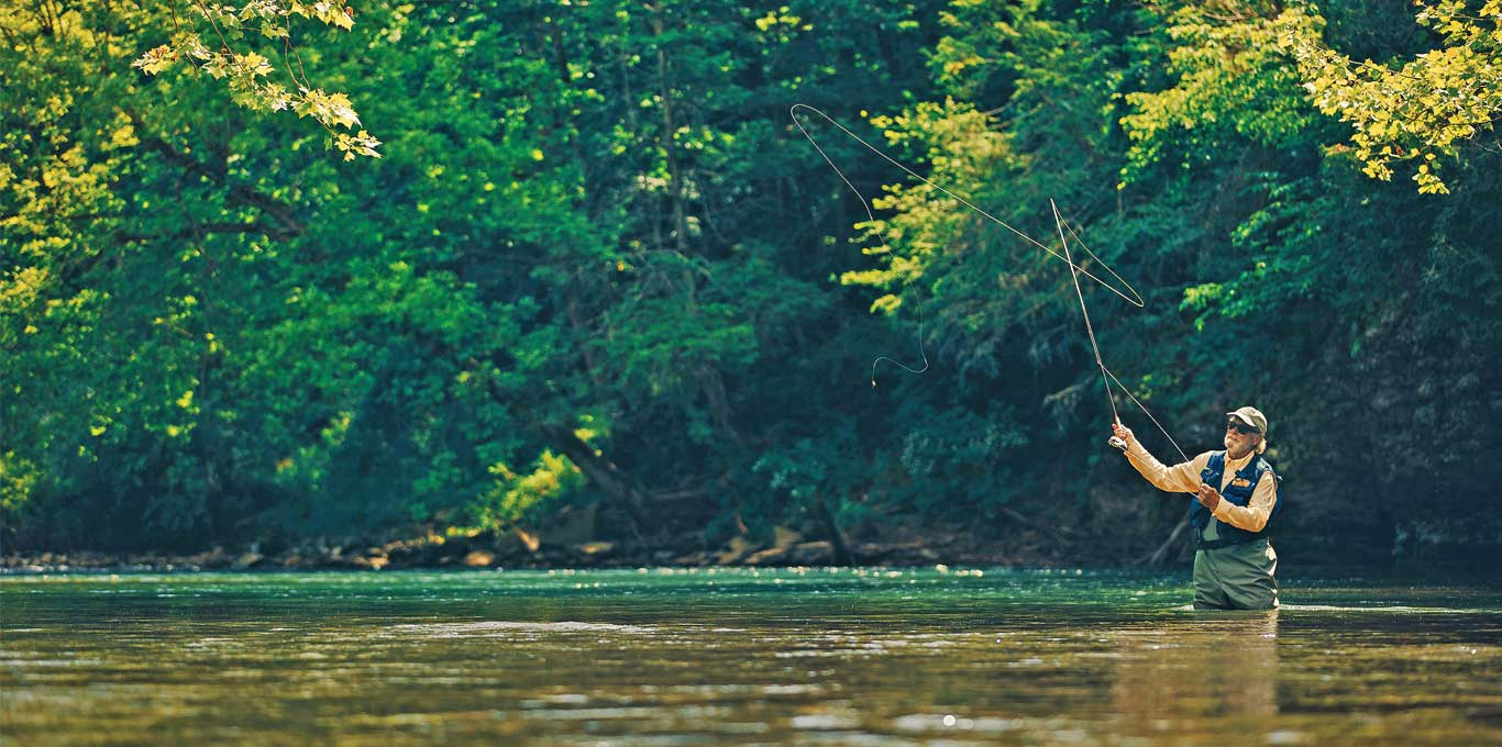 Fly fishing in Bath County Virginia by Sam Dean Photography