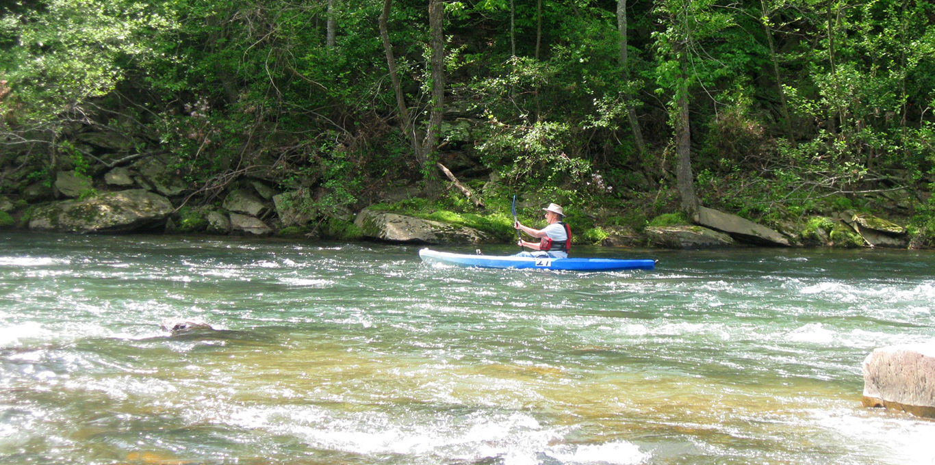 Paddling in Nelson County