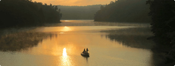 Fishing at sunrise in Patrick County