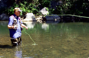 Harry Murray flyfishing the Shenandoah River