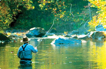 Fly fishing Escatawba Farms
