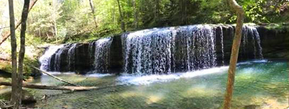 waterfall in Grayson County