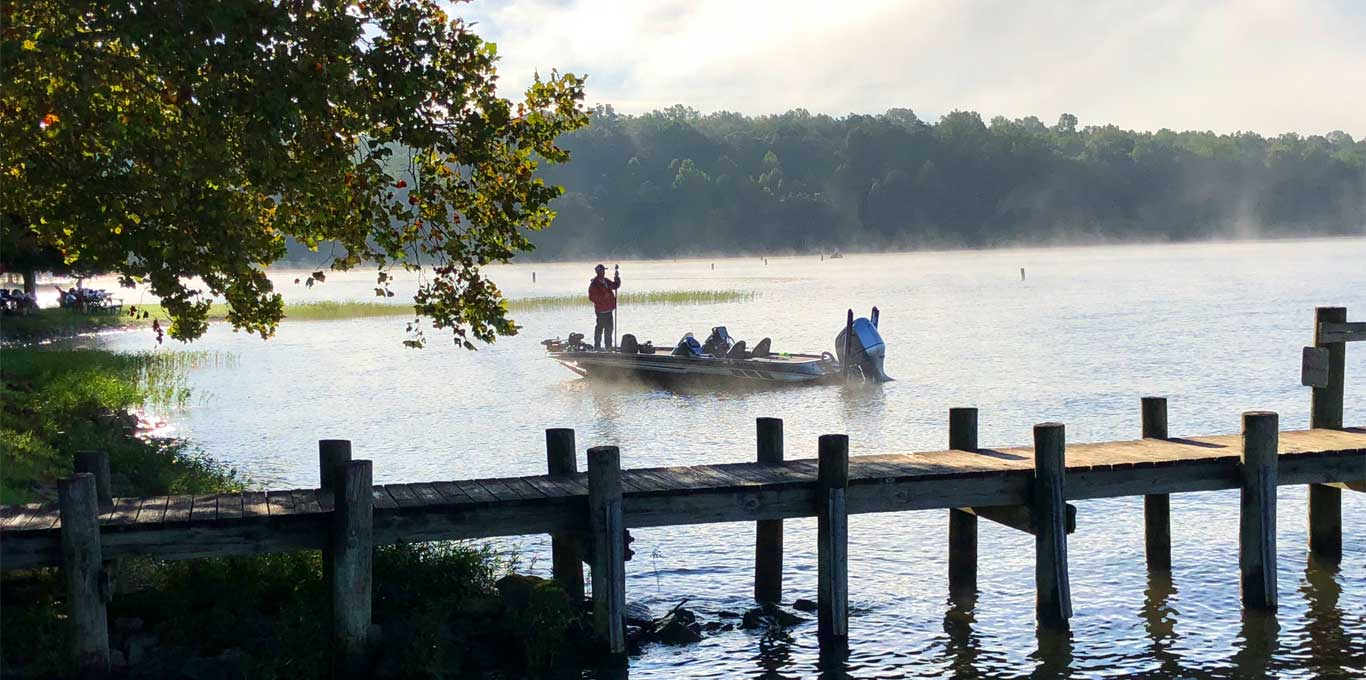 Man fishing in the mist in Spotsylvania County