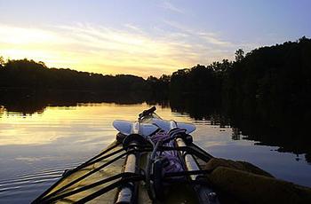 kayaking at sunset in Halifax