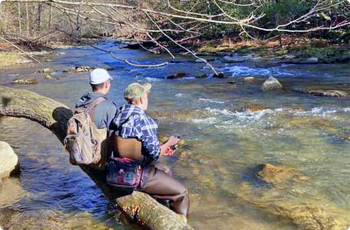 fishing in the streams of Wise County