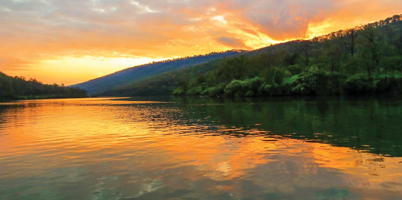 Lake Moomaw sunset