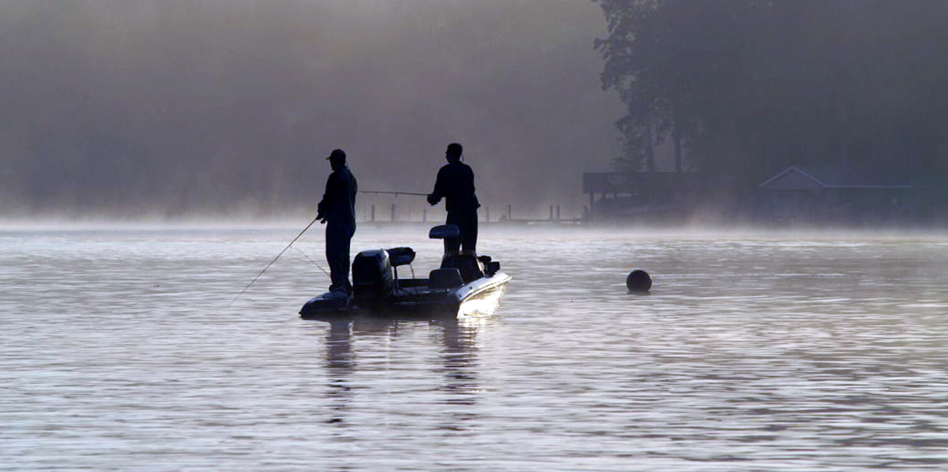 fishing on Smith Mountain Lake