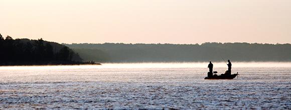 fishing on Kerr Lake