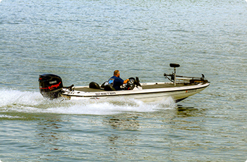 Boating on South Holston