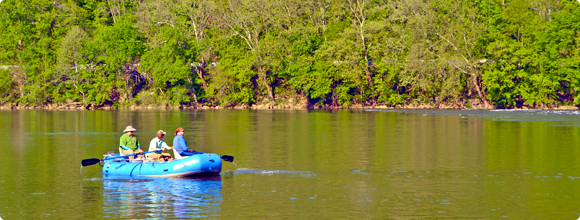 Paddling New River in Giles County